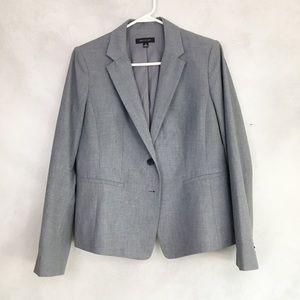 Ann Taylor Traditional Gray Blazer Jacket Work